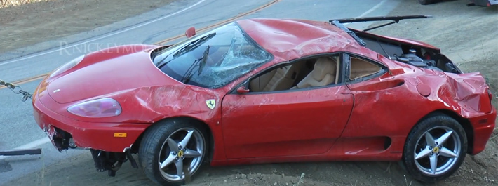 Ferrari 360 Modena Crash