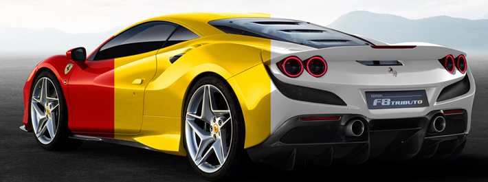 Ferrari F8 Tributo - Colours