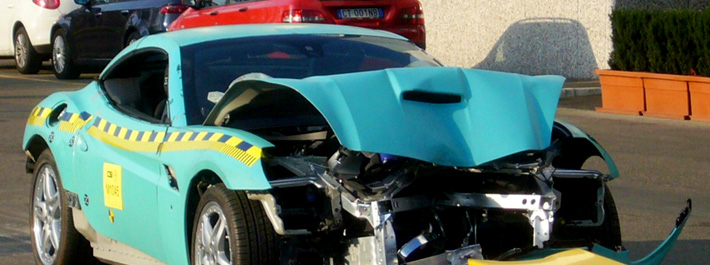Ferrari California - Crash test foto!